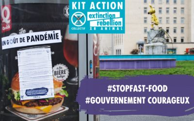 KIT ACTION GOUVERNEMENT COURAGEUX  #STOP FAST-FOOD